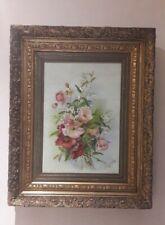 tableau Peinture Sur Toile Signé Art Nouveau A ALLAERT 1924 Fleurs Bouquet