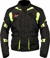 Weise Pioneer Jacket Men's Black Neon Waterproof Textile Motorcycle Jacket NEW