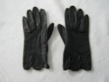 Italian black calfskin ladies gloves