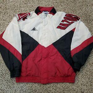 Vintage 90s Arkansas Razorbacks Windbreaker Apex One Jacket Football Size Large