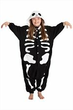 Sazac Skeleton Fleece Kigurumi Costume Pajamas Halloween Children 130cm