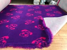 VET BEDDING NON-SLIP PURPLE WITH PINK DOG FACE 5M X 1.52M 🐶🐶🐶🐾