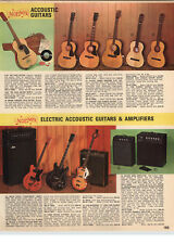 1970 PAPER AD Norma Accousic Guitar Folk Concert Electric Amplifier