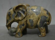 "Sculpture chanceuse de Feng Shui Animal de 7 ""Old China Xiu Jade Naturel"