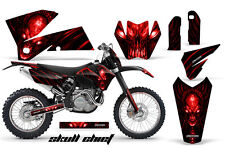 CREATORX GRAPHICS KIT FOR KTM 05-07 XC 05-06 SX SKULL CHIEF SCRNP