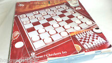 All Glass Chess Checkers Set Crystal Clear Fifth Avenue Mint 57 pcs Large