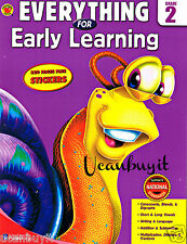 320pg Brighter Child Series EVERYTHING EARLY LEARNING WorkBook w/Stickers Gr 2