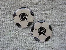 Soccer Ball Enamel Lapel Pins (2) Pc Set Football Badges Soccer Badges Enamel