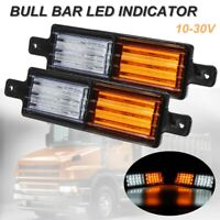 2xUniversal Truck Trailer Bull Bar Front 30 LED Indicator Park Light Lamp 10-30V