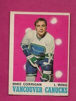 1970-71 OPC # 227 CANUCKS MIKE CORRIGAN ROOKIE EX+ CARD (INV#4060)