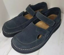 Simple Women's Blue Suede Double Strap Mary Jane's size 6