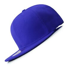 New Hot Royal Blue FLAT Peak SNAPBACK Plain Blank Cap Dancer Hat Gift Chapeau