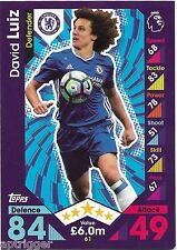 2016 / 2017 EPL Match Attax Base Card (61) David LUIZ Chelsea