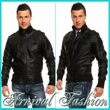 Faux Leather Motorcycle Coats & Jackets for Men