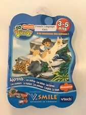 VTech VSmile Go Diego Save The Animals French Only Game New