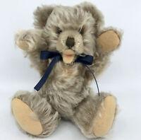 Steiff Zotty Teddy Bear Caramel Mohair Plush 22cm 9in Jointed 1960s Vintage