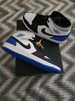 DS Nike Air Jordan 1 Mid SE Union Royal Black Toe Sz 12 852542-102/BQ6931-102