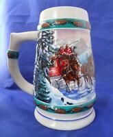 1993 Ceramarte Budweiser Clydesdale Beer Stein Special Delivery Nora Koerber