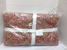 Pottery Barn Macallister Wholecloth Romantic Floral Flowers Bed Quilt Twin Red