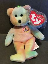 2001 TY Jingle Beanies Peace Bear