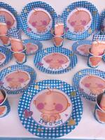 IT'S A BABY BOY SHOWER PARTY SUPPLIES DECORATION 82 PIECES-PERFECT FOR 20 GUEST