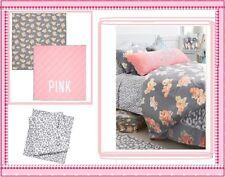 Victoria's Secret PINK floral reversible COMFORTER + BED SHEETS dorm TWIN XL 4pc