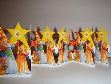 Scandinavian Swedish Cut Out Fold Out Table decorations Star Boy #BK10
