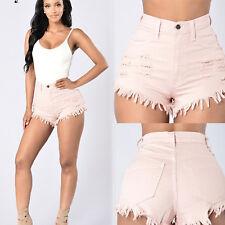 Women's Casual High Waisted Short Mini Jeans Denim Slim Beach Shorts Hot Pants