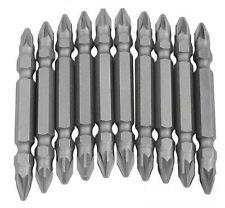 10 pièces 65mm Embout double puissance Set de mèches cruciforme Tournevis Drill