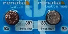 387S RENATA WATCH BATTERIES (2piece) 394 New packaging Authorized Seller