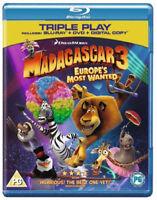 Madagascar 3 - Buscados en Europa Más Wanted Blu-Ray Nuevo Blu-Ray (BSA2422)