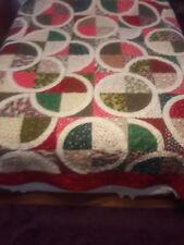 Christmas Handmade queen quilt.  .