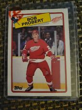 New listing Bob Probert 1988 Topps rookie card Detroit Red Wings