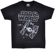 Star Wars TIE Fighter T-Shirt Disney Mens Black Size Large