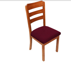 2 pc Chair Covers Dining Room Stretch Slipcover Seat Cover Protector - Burgundy