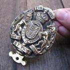 Old Brass Royal Coat of Arms Queens Coronation Door Knocker