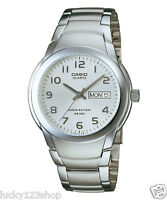 MTP-1229D-7A White Water Resist Day Date Casio Men's Watch 10-Year Battery Quart