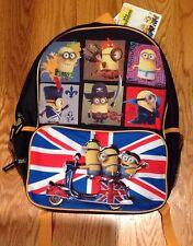 Minions Movie 2015 Back Pack British, Pirate, Caveman Au Naturel