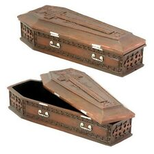 Halloween Horror Decor Vampire Dracula Zombie Coffin Jewelry Trinket Box Statue