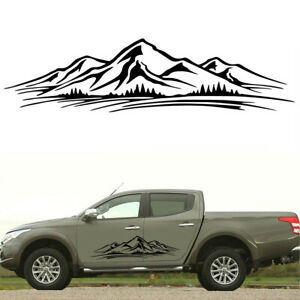 Car Side Body Vinyl Stickers Mountain Forest Graphics Decals DIY Self-adhesive