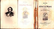 """1876 - ALFRED DE MUSSET """"LA CONFESSION D'UN ENFANT DU SIÈCLE"""" - AVEC PORTRAIT"""