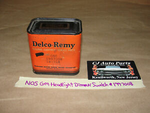 NOS DELCO REMY 1929-1958 GM HEADLIGHT DIMMER SWITCH #1997008
