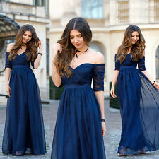 Elegant Long Bridesmaid Formal Party Dresses Maxi Evening Ball Prom Gowns 08411
