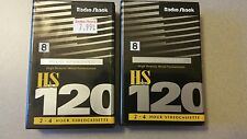 NEW! Radio shack 8 mm 120  2-4 hour video cassettes  2 per pack