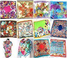 """US SELLER , 6PC pailsey flower bohemian 39"""" artificial silk wholesale scarves"""
