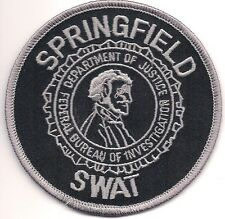 Fbi: Springfield SWAT S.W.A.T. Illinois Police Patch SEK policía insignia de tela