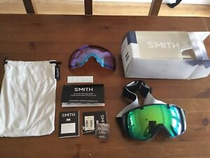 Brand New In Box Smith I/O Series Ski Snow Board Goggles With Bonus Lens