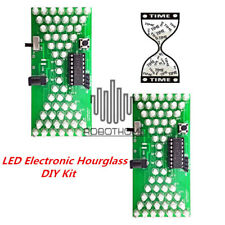 2pcs LED Electronic Hourglass DIY Kit Funny Electric Production Kits PCB Board