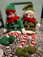 Christmas knitted toys