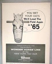 Wonder Horse Line PRINT AD - 1965 ~~ Wonder Products